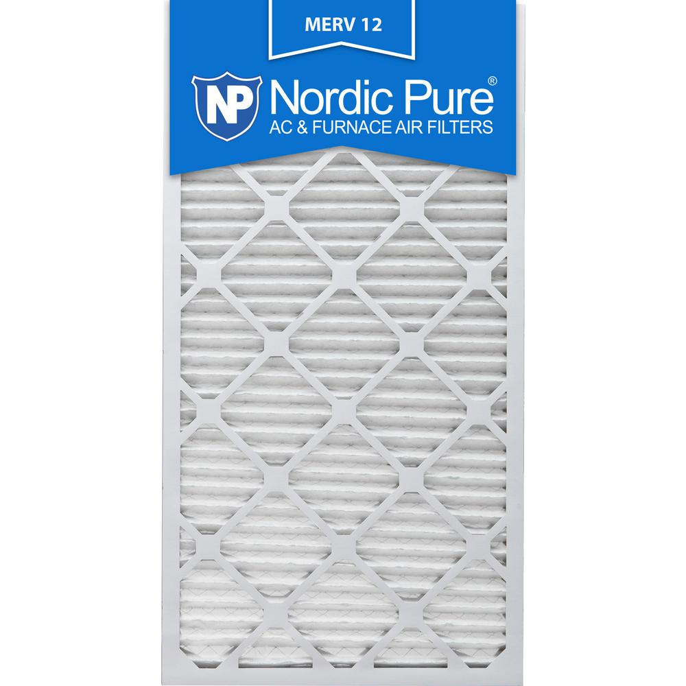 Nordic Pure 12x30x1 MERV 10 Pleated AC Furnace Air Filters 2 Pack