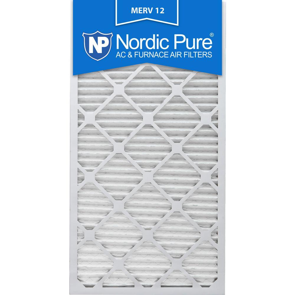 12 in. x 30 in. x 1 in. Allergen Pleated MERV 12 - FPR 9 Air Filters (6-Pack)