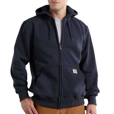 Men's Extra Large New Navy Cotton/Polyester Rain Defender Paxton Heavyweight Hooded Zip-Front Sweatshirt