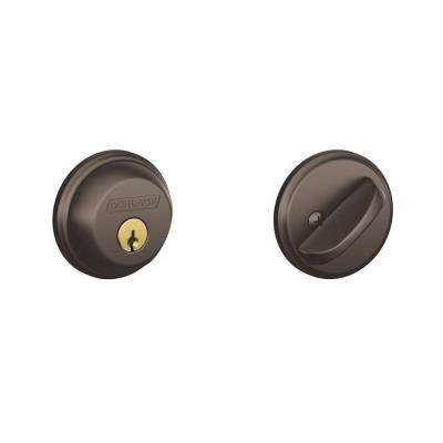 Oil Rubbed Bronze Single Cylinder Deadbolt (3-Pack)