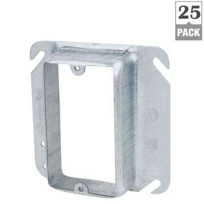 1-Gang 4 in. Metallic Square Device Cover for Single Device (Case of 25)