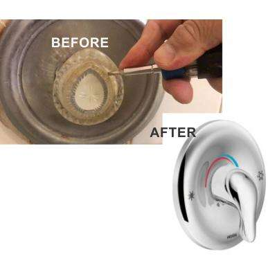 Shower Handle and Trim Rebuild Kit with Cartridge in Chrome