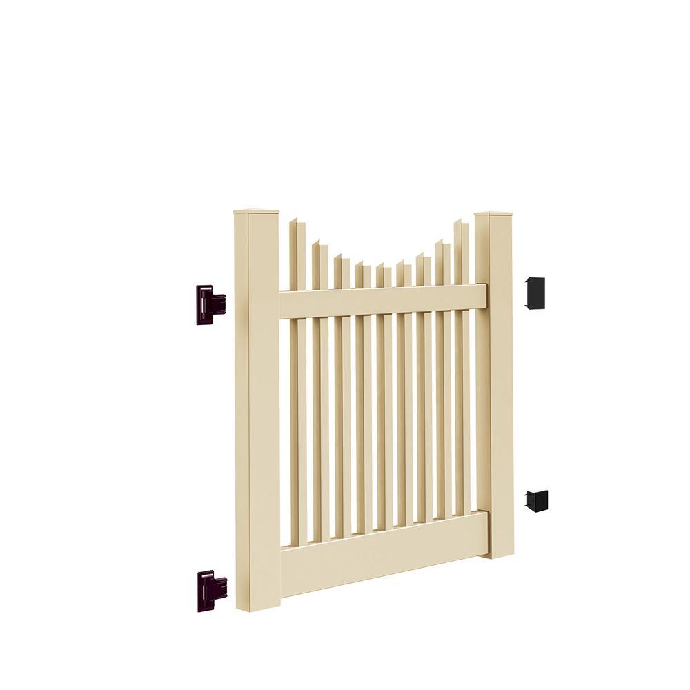 Beige Scallop Vinyl Fence Gates Vinyl Fencing The