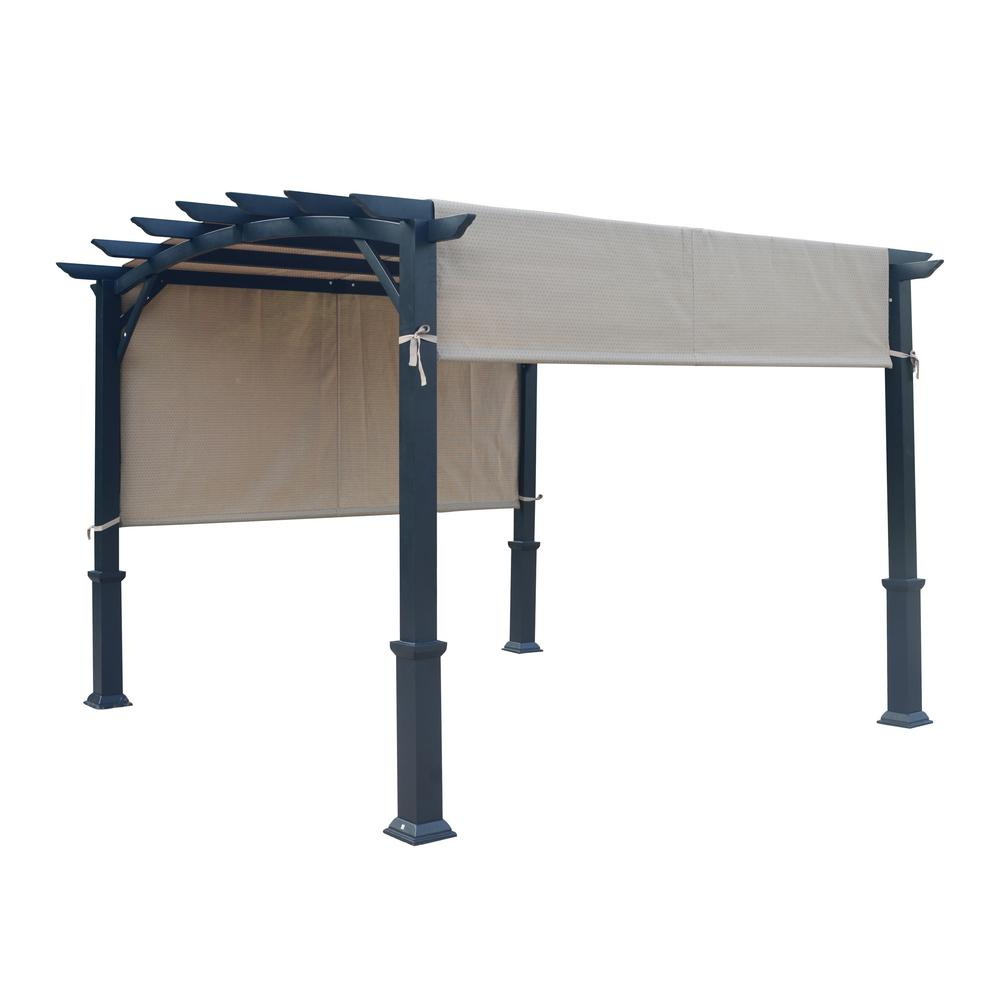 Curved Roof Pergola - Taipeng 10 Ft. X 10 Ft. Curved Roof Pergola-TPPER94033 - The Home Depot