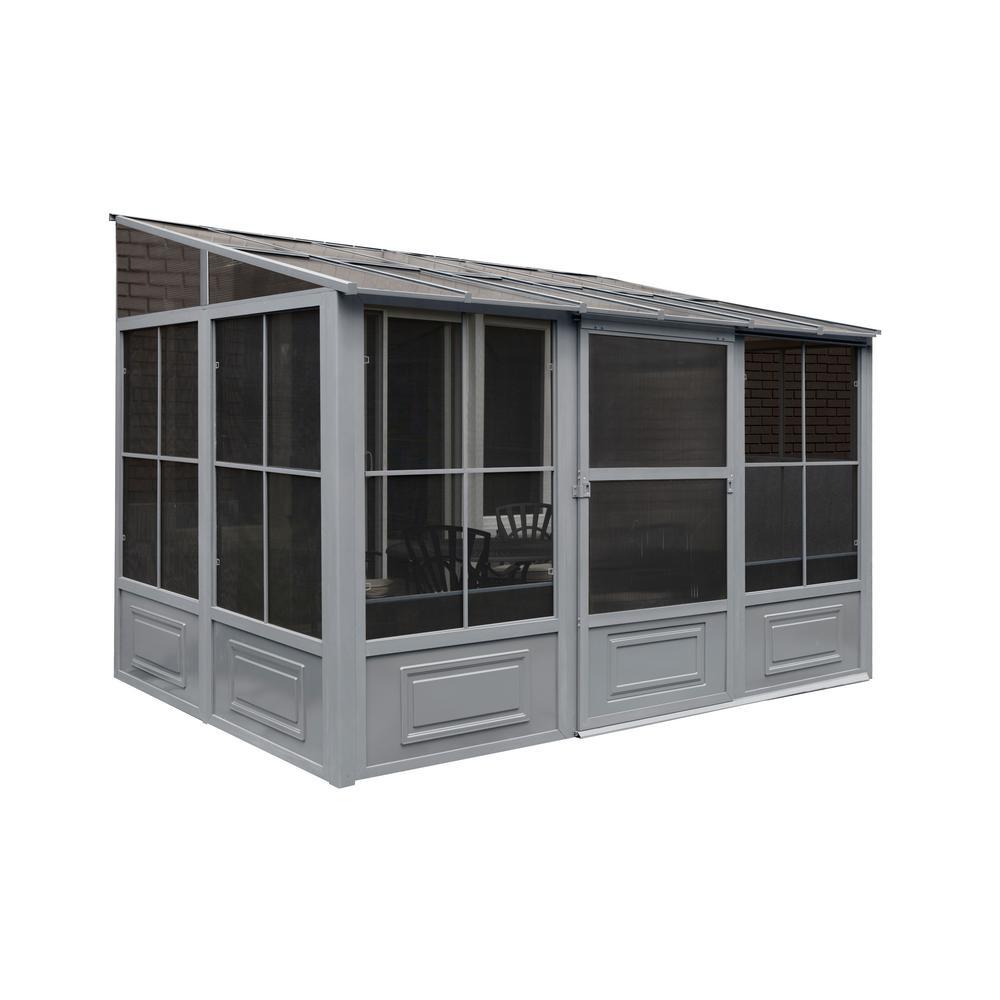 10x10 Kitchen Designs Home Depot: Gazebo Penguin 8 Ft. X 10 Ft. X 12 Ft. Aluminum Add-A-Room