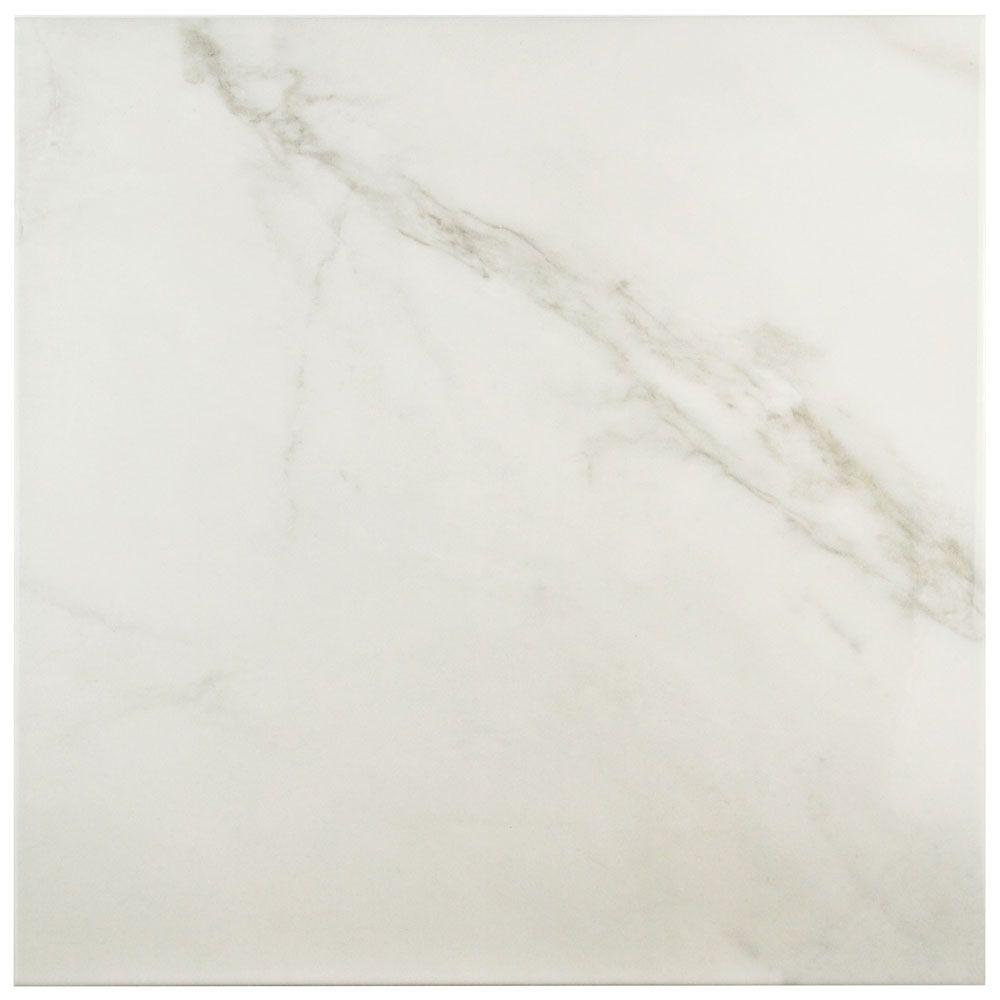 Merola Tile Donna Blanco 17-3/4 in. x 17-3/4 in. Ceramic Floor and Wall Tile (15.75 sq. ft. / case)