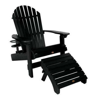 King Hamilton Black 3-Piece Recycled Plastic Outdoor Seating Set