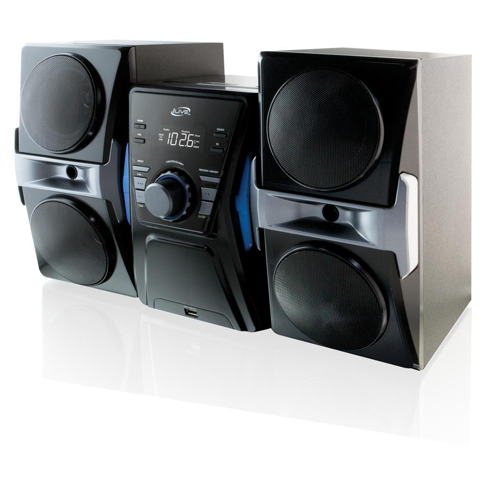 ILIVE CD/FM Home Music System with Bluetooth