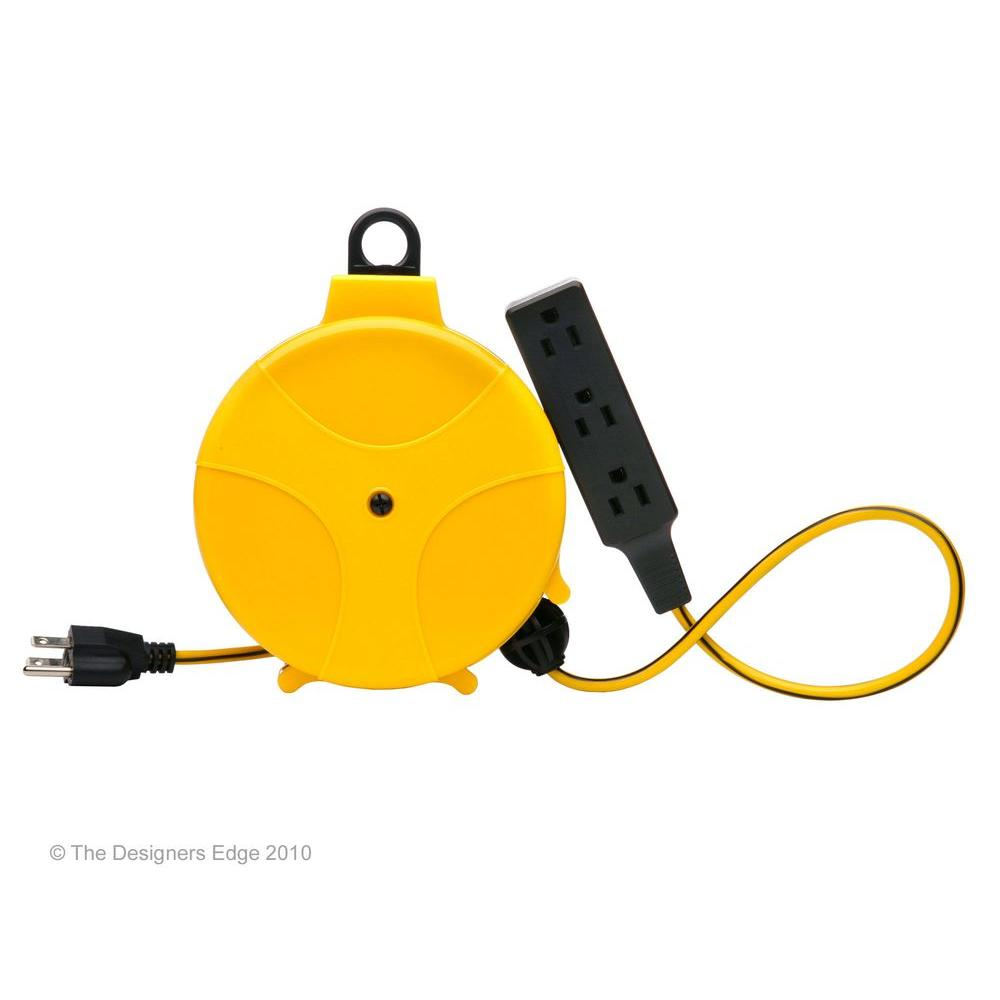 Designers Edge 20 Ft Retractable Cord Reel E315 The