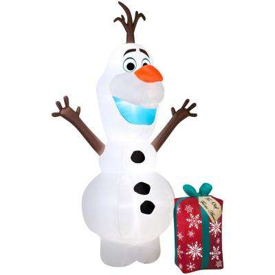 Olaf with Present Inflatable