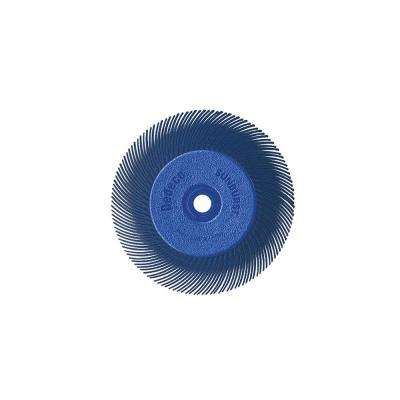 Sunburst - 6 in. TC Radial Discs - 1/2 in. Arbor - Thermoplastic Cleaning and Polishing Tool, Fine 400-Grit (1-Pack)