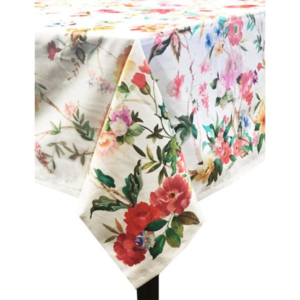 Coventry 60 in. x 120 in. Multi Cotton and Polyester Tablecloth