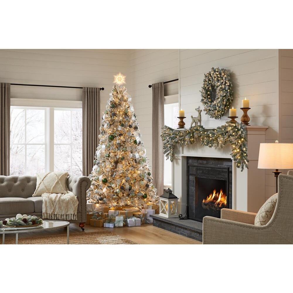 7.5 ft Starry Light Frasier Fir Flocked LED Pre-Lit Artificial Christmas Tree
