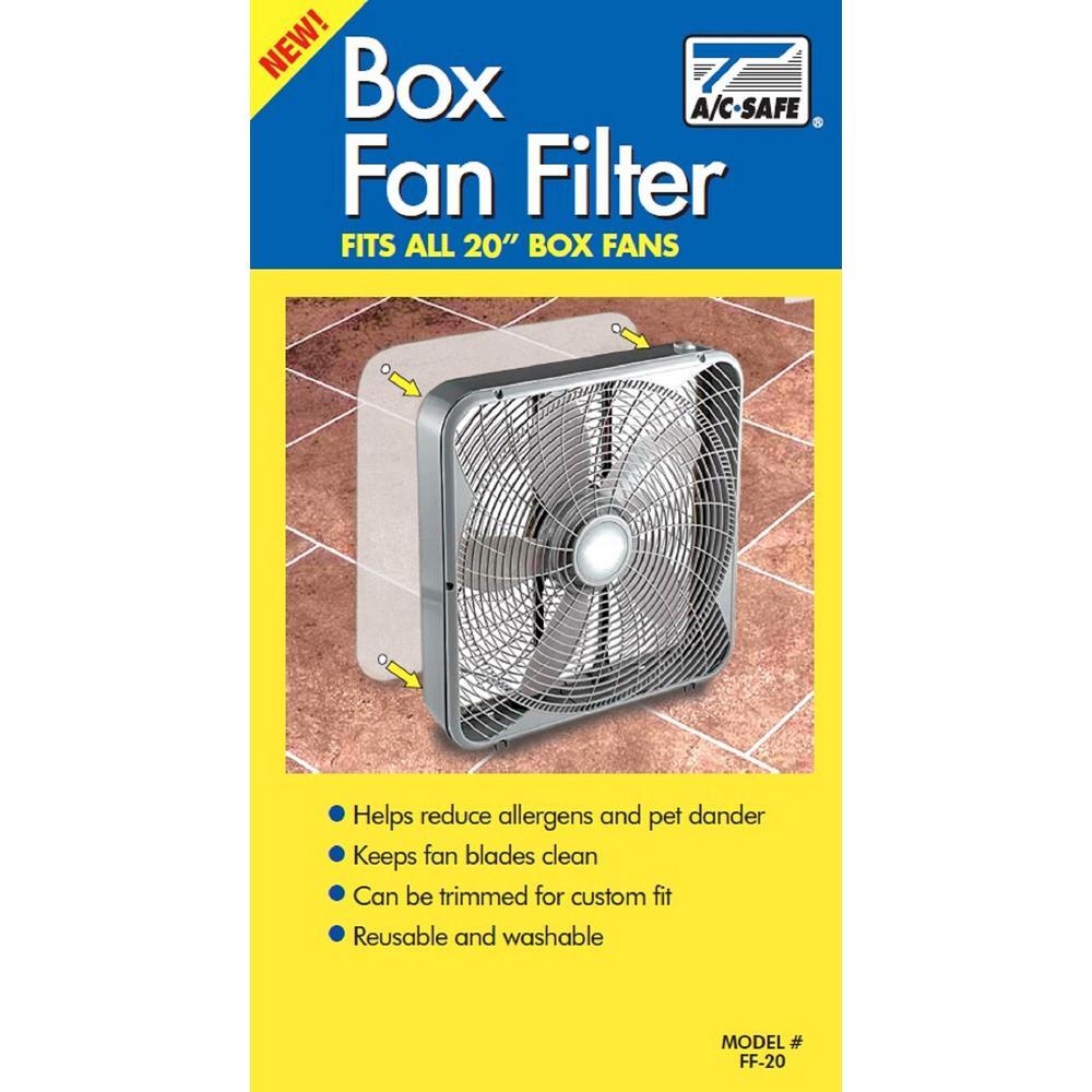 20 in. Box Fan Filter