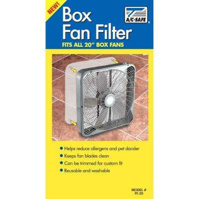 20 in. Box Fan Filter