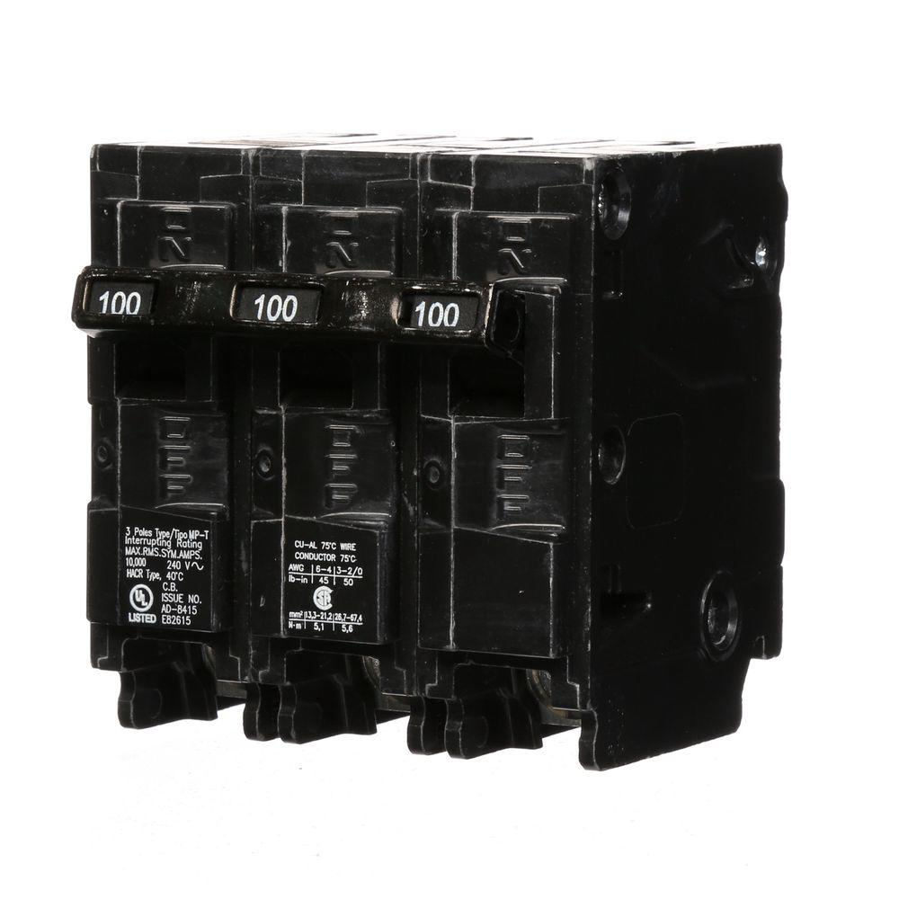 Murray 100 Amp Three-Pole Type MP Circuit Breaker-MP3100 - The Home ...
