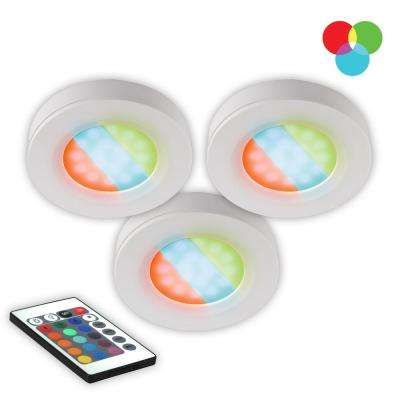 LED RGB Under Cabinet Puck Light (3-Pack)