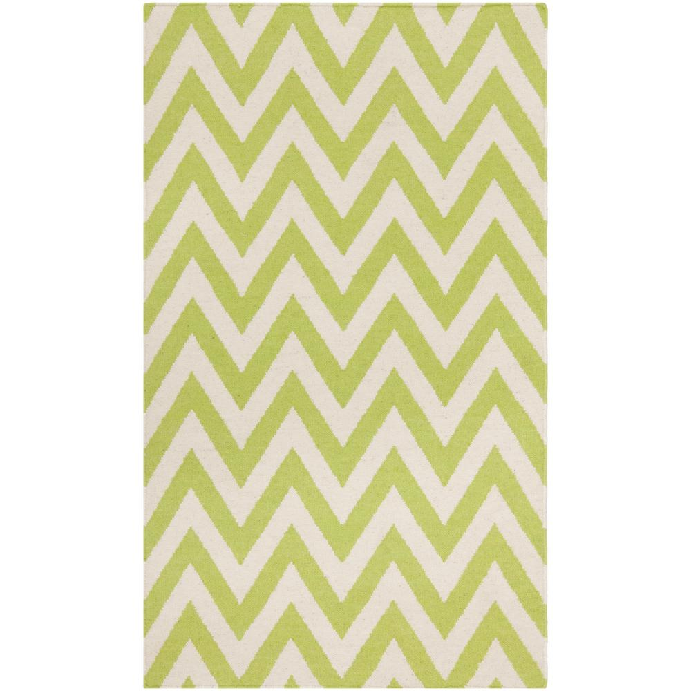 Dhurries Green/Ivory 2 ft. 6 in. x 4 ft. Area Rug