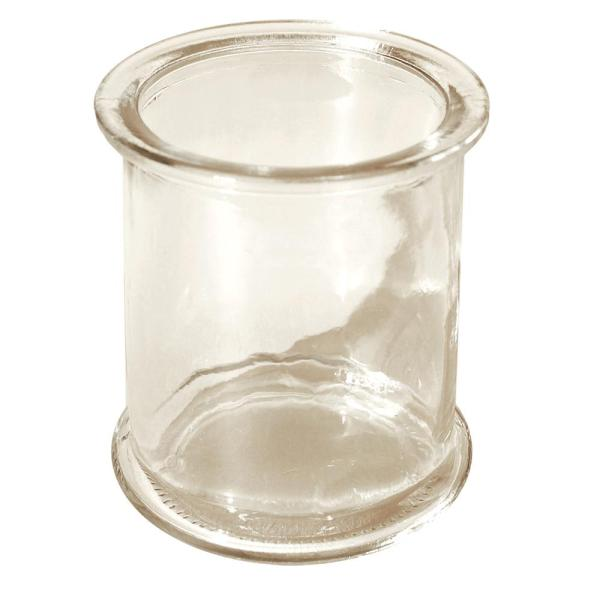 Lumabase 3.5 in. Clear Glass Deco Candle Holder (Set of 12)