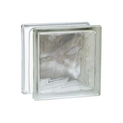 Nubio 11.75 in. x 11.75 in. x 3.875 in. Wave Pattern Glass Block (3-Pack)