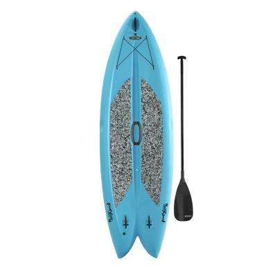 Freestyle 9 ft. 8 in. L x 35.5 in. W x 6 in. T Multi-Sport Paddle Board in Glacier Blue