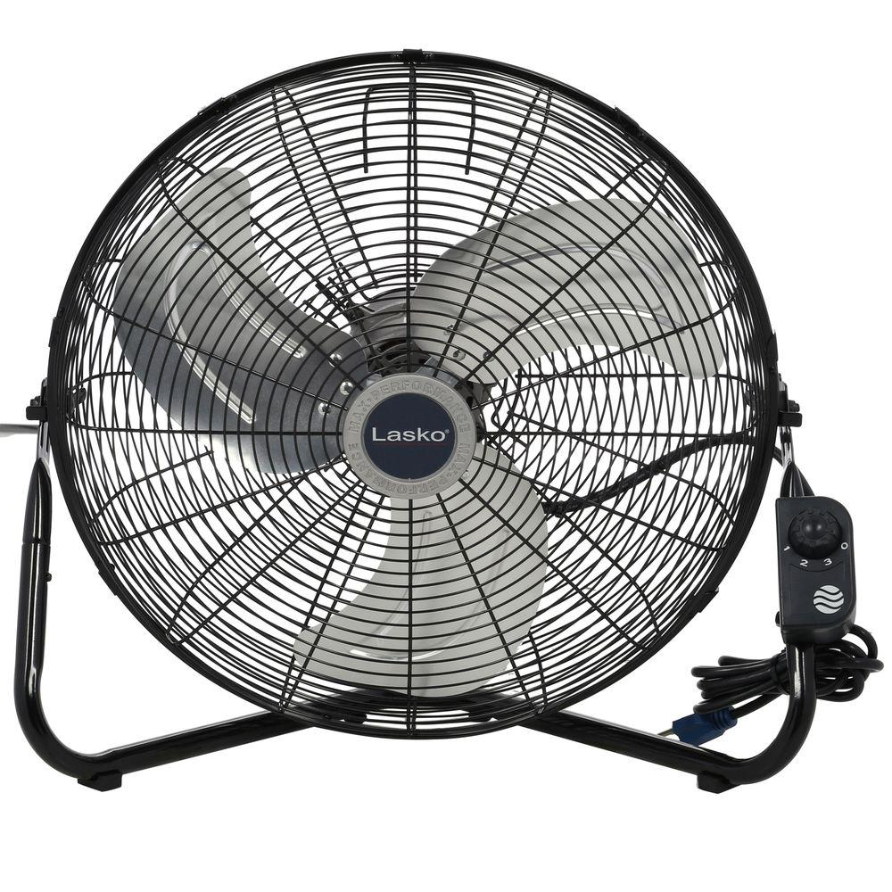 20 in. High-Velocity Floor or Wall-Mount Fan in Black