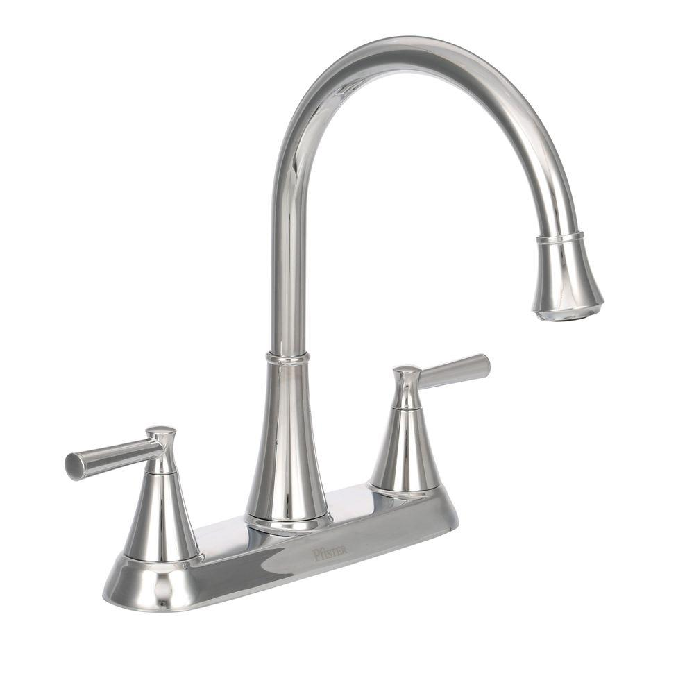 Stainless Steel Pfister G136 500s Series 2 Handle Kitchen Faucet With Side Spray Kitchen Fixtures Haireffex Kitchen Faucets