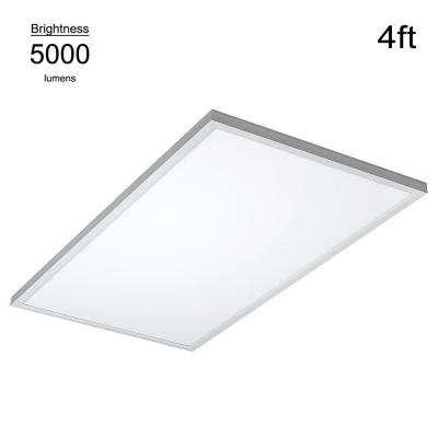 Commercial Drop Ceiling 2 ft. X 4 ft. White 5000K Dimmable Integrated LED Flat Panel Troffer (2 Pack)