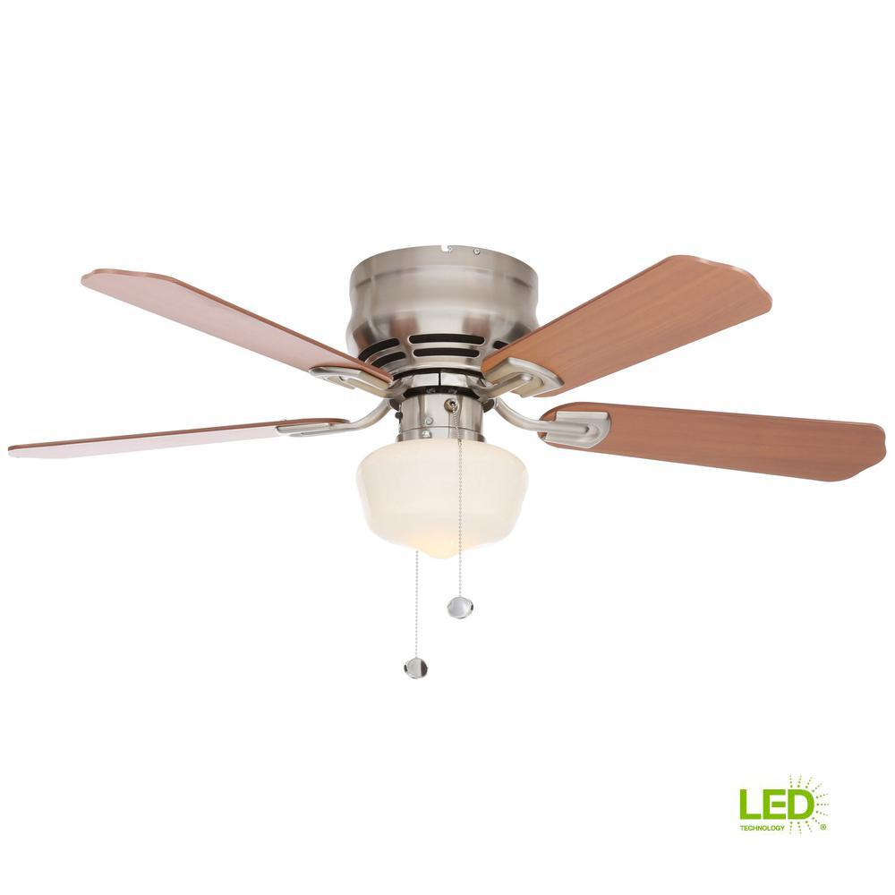 Middleton 42 in. LED Indoor Brushed Nickel Ceiling Fan with Light ...