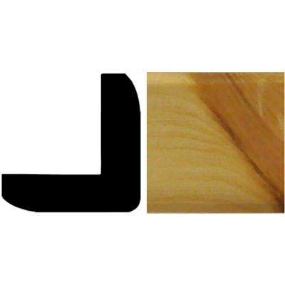 1 in. x 1 in. x 96 in. Wood North America Knotty Pine Outside Corner Moulding