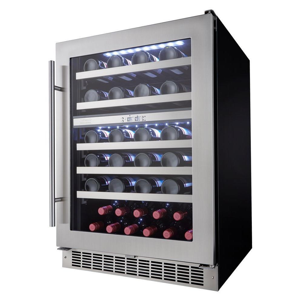 Professional 51-Bottle Dual Zone Built In Wine Cellar