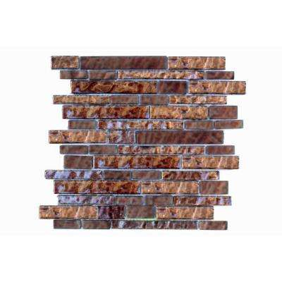 Upscale Designs 12 in. x 13 in. x 6 mm Glass Mesh-Mounted Mosaic Tile