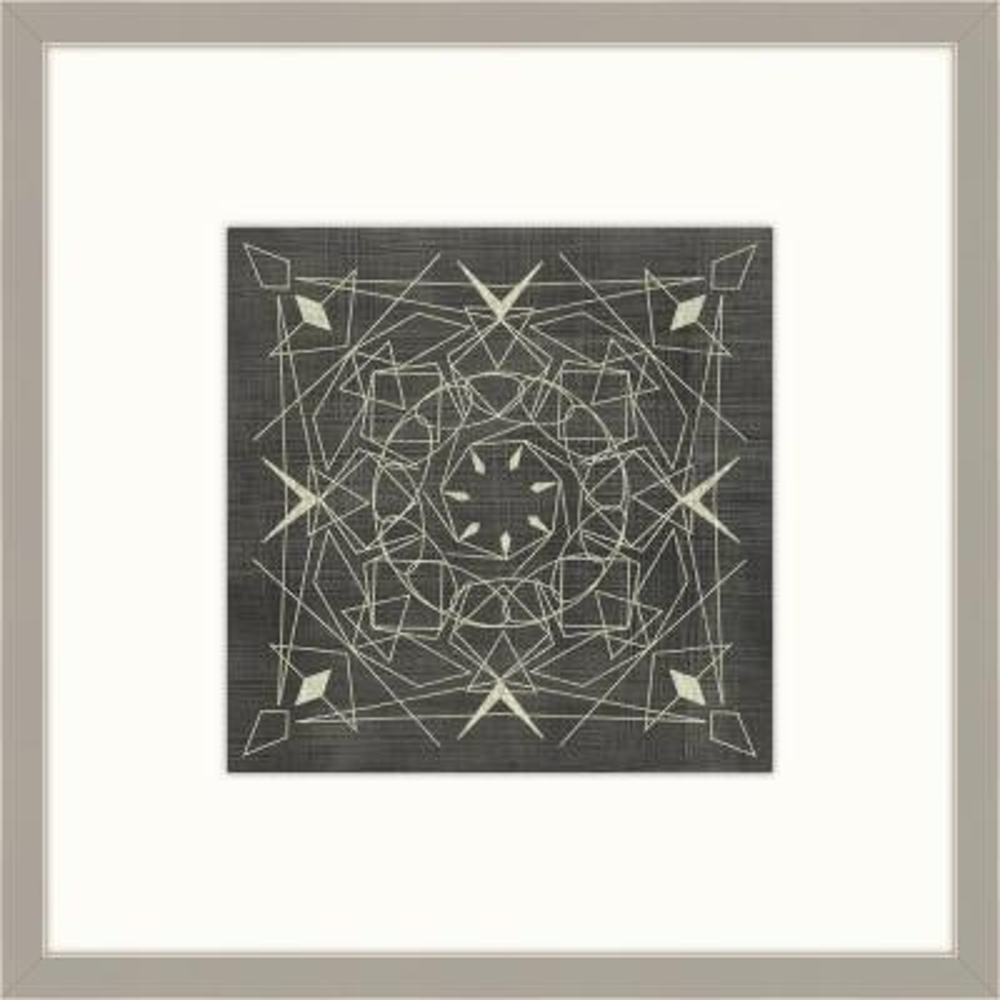 "28 in. x 28 in. ""Geometric Tile VII"" Framed Giclee Print Wall Art"