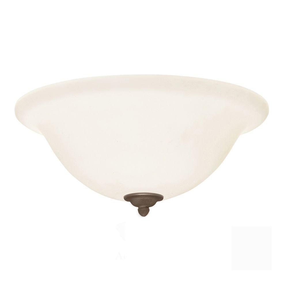 Illumine Zephyr 3-Light Gilded Bronze Ceiling Fan Light Kit