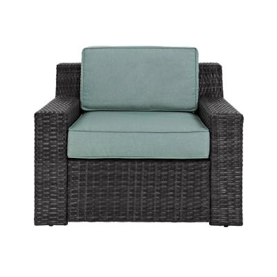 Beau Fort Wicker Outdoor Lounge Chair with Mist Cushion