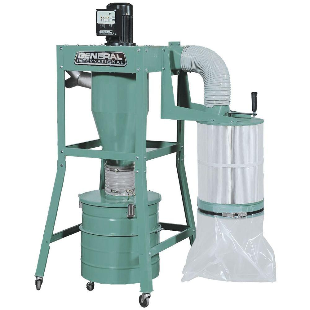 General International 1.5 HP Portable 2-Stage Dust Collector