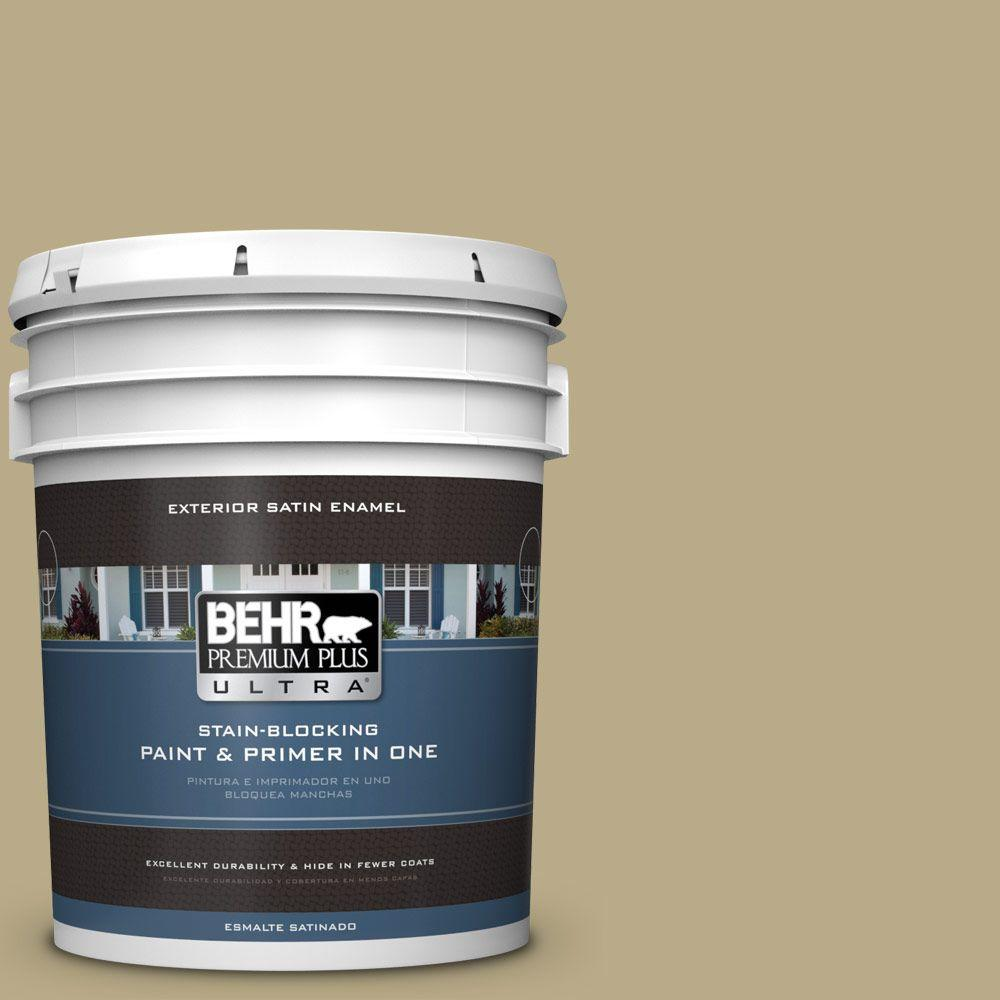 BEHR Premium Plus Ultra 5-gal. #S330-4 Fennell Seed Satin Enamel Exterior Paint