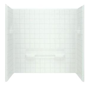 Sterling Advantage 35-1/4 inch x 60 inch x 59-1/4 inch 3-Piece Direc-to-Stud Shower Wall Set in White by STERLING