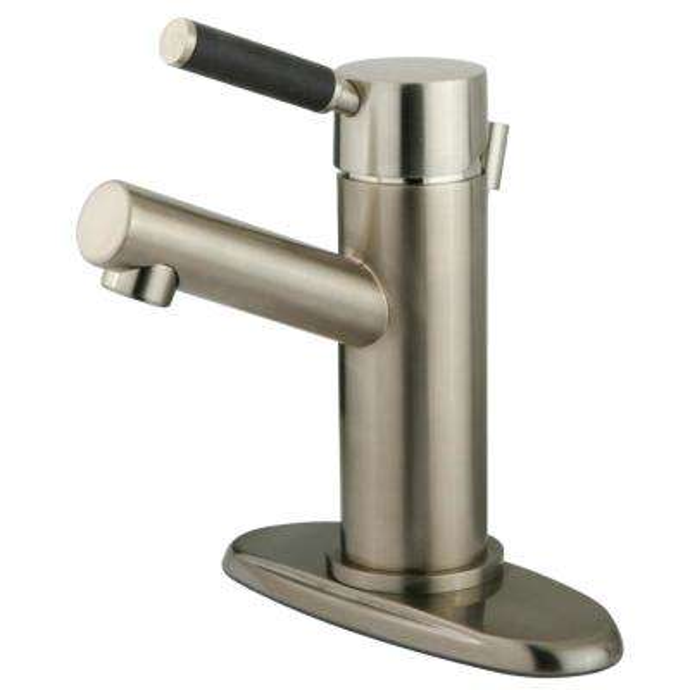 Kaiser Single Hole Single-Handle Bathroom Faucet in Brushed Nickel