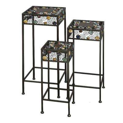 28 in. H x 24 in. H x 20 in. H Metal Plant Stand (Set of 3)