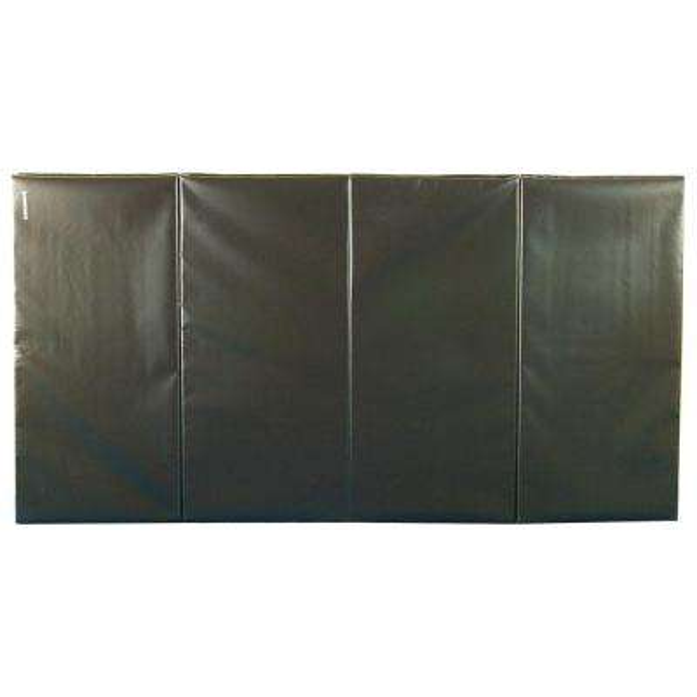 Folding Black 4 ft. x 8 ft. x 2 in. 18 oz. Vinyl and Foam Gymnastics Mat
