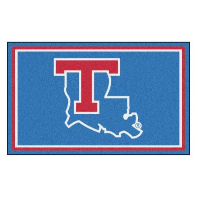 NCAA - Louisiana Tech University Light Blue 4 ft. x 6 ft. Area Rug