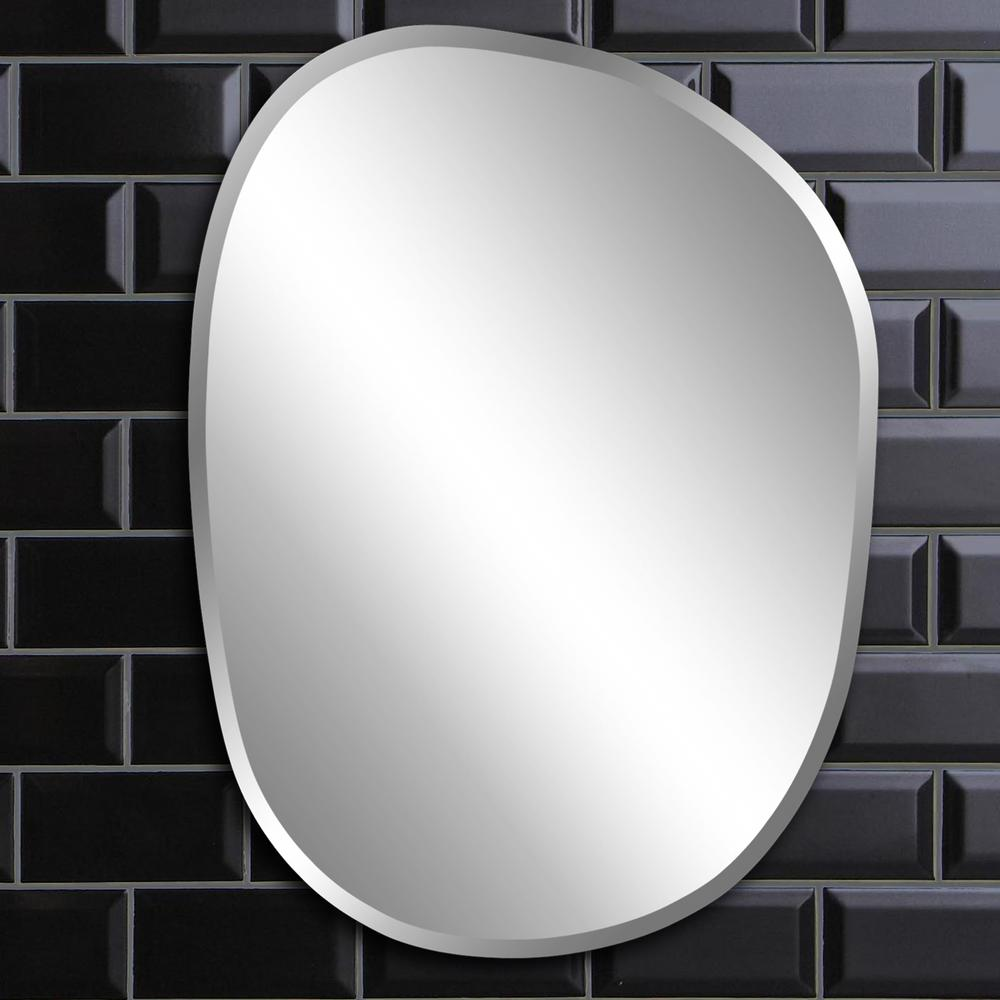in x  in asymmetrical frameless mirror. oval  contemporary  mirrors  wall decor  the home depot