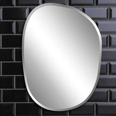 18 in. x 24 in. Asymmetrical Frameless Mirror