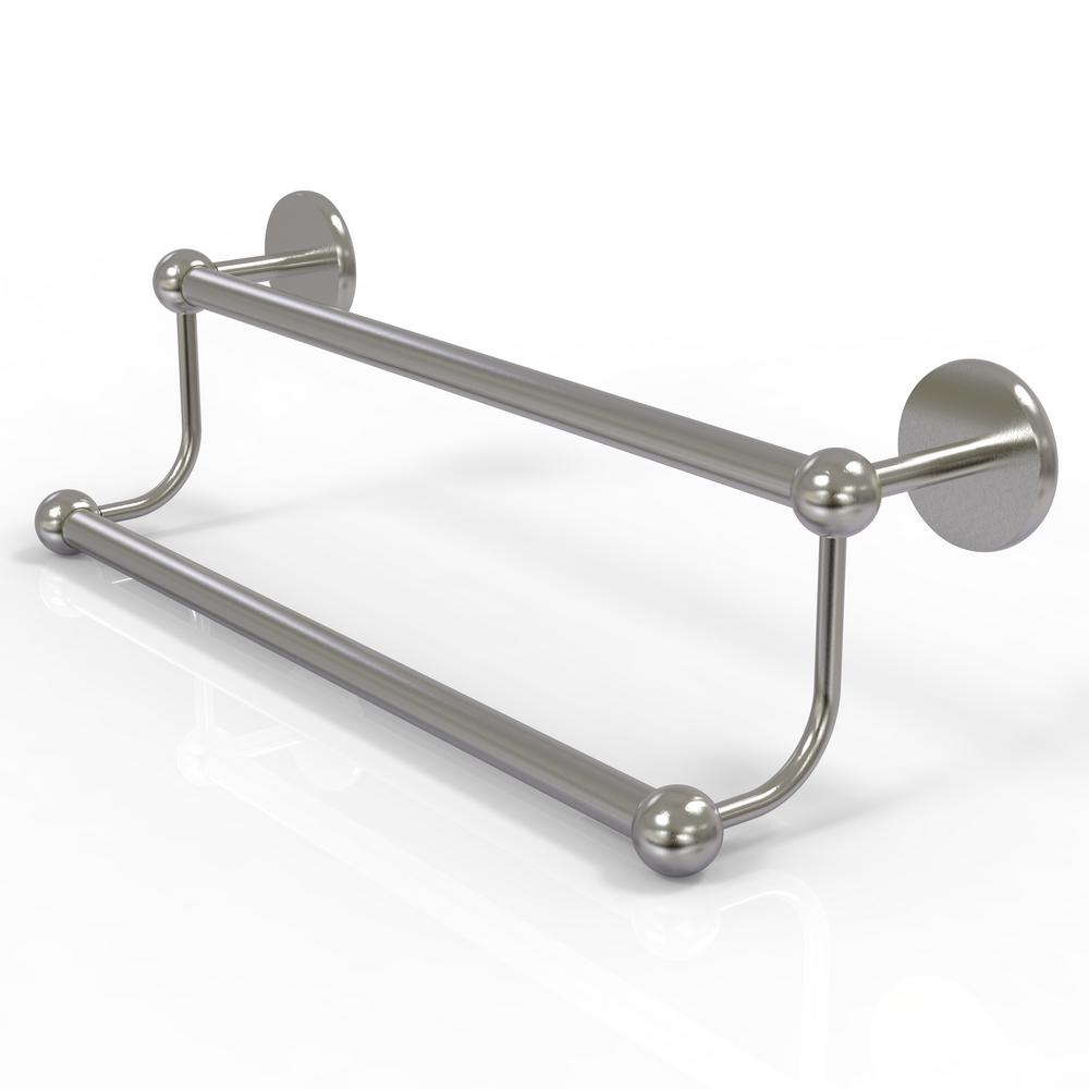 Prestige Skyline Collection 24 in. Double Towel Bar in Satin Nickel