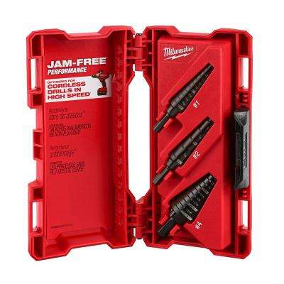 Black Oxide Step Drill Bit Set (3-Piece)