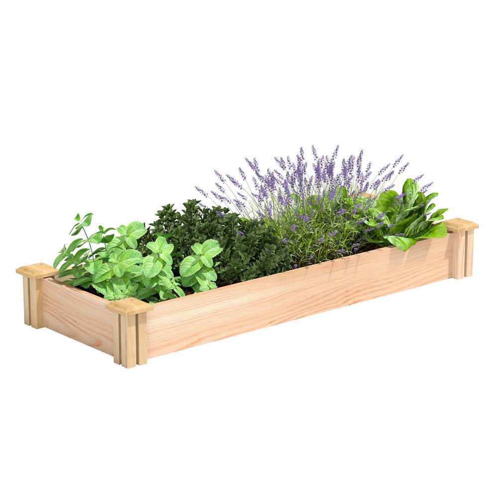 16 in. x 4 ft. x 5.5 in. Premium Cedar Raised Garden Bed
