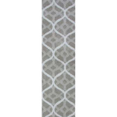 Remus Silver Grey 2 ft. x 5 ft. Runner Rug