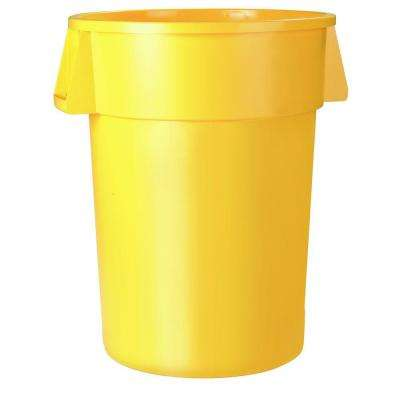 Bronco 55 Gal. Yellow Round Trash Can (2-Pack)