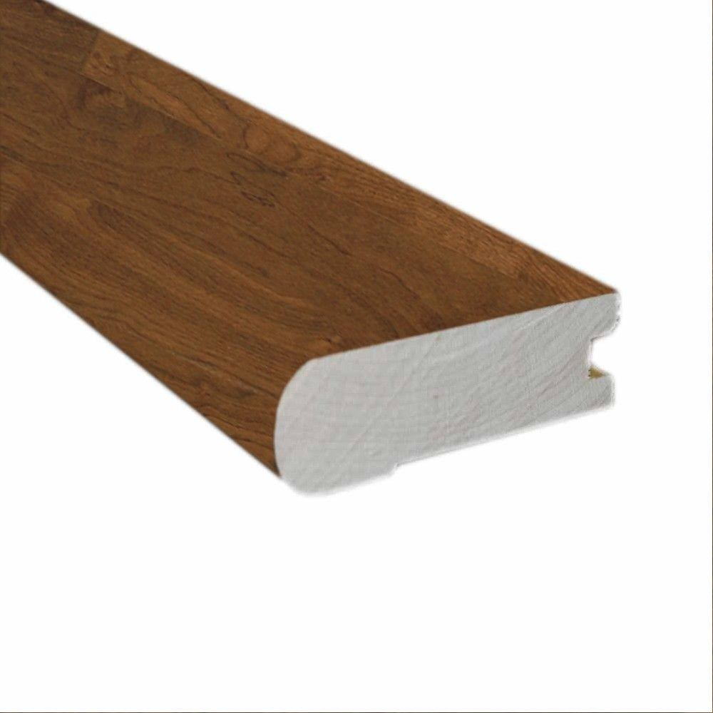 Walnut Natural Glaze 3/4 in. Thick x 2-3/4 in. Wide x 78 in. Hardwood Length Hardwood Flush-Mount Stair Nose Molding